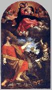 CARRACCI, Annibale The Virgin Appears to Sts Luke and Catherine oil painting picture wholesale
